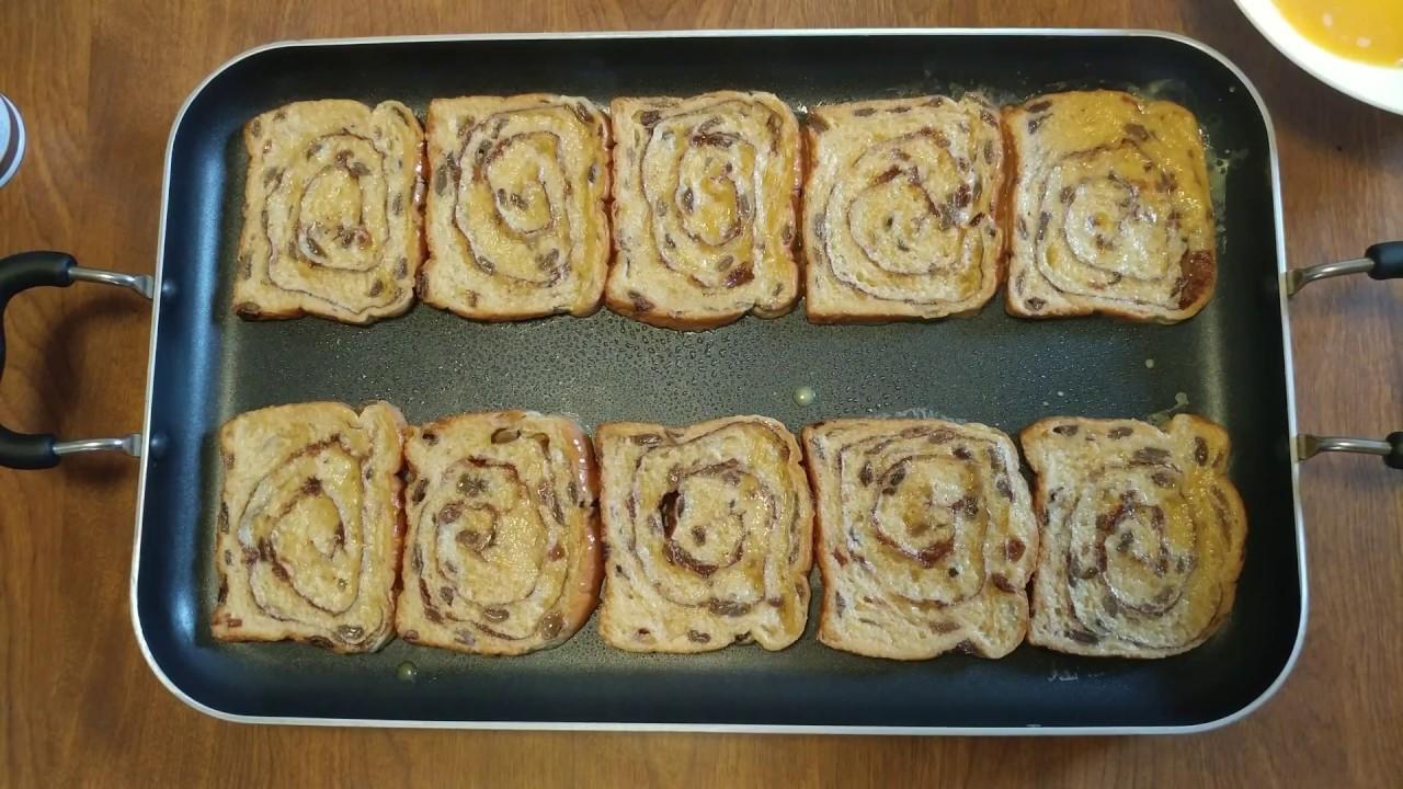 How To Make Cinnamon Raisin Bread French Toast Using Egg & Pure Vanilla  Extract