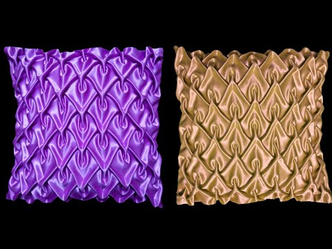 Smocking Cushion Cover Canadian Making Pillow Design Pattern In Hindi At Home Diy Kusan Takia
