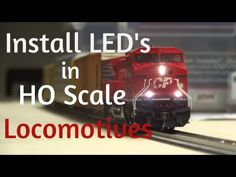 HOW TO: Install LED Lights in ANY HO Scale Locomotive