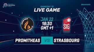 LIVE🔴 - Promitheas Patras v SIG Strasbourg - Basketball Champions League 2018-19 (Geo-Blocks)