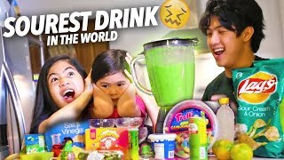 SOUREST DRINK IN THE WORLD! | Ranz and Niana