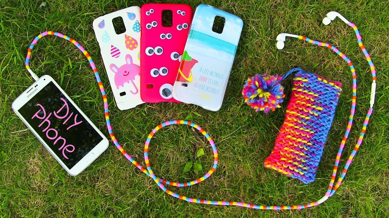 DIY 10 Easy Phone Projects. DIY Phone (Case, Pouch & More