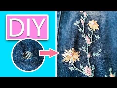 Вышивка на джинсах схемы