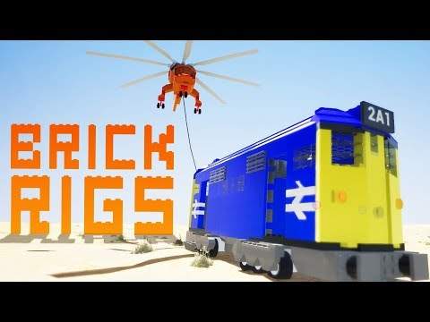 Heavy Lifting Trains And Destroying Airplaines! - Brick Rigs Gameplay - Brick Rigs Multiplayer