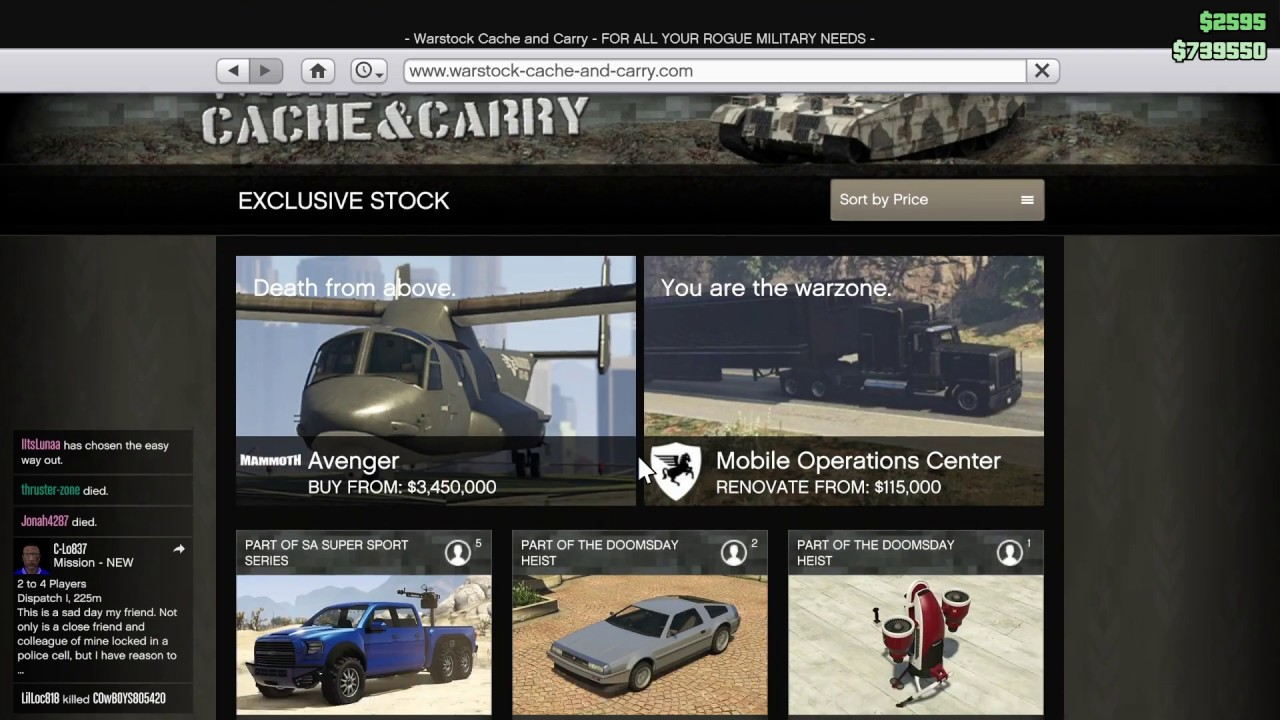 GTA 5 ONLINE Daily Discount (Legendary Motorsport And More