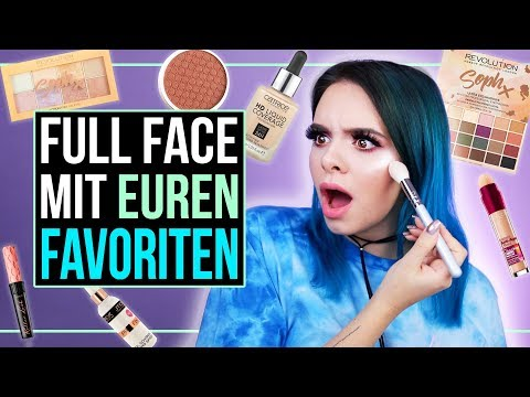 FULL FACE mit EUREN FAVORITEN! – Full Face Using Only Your Favorite Products