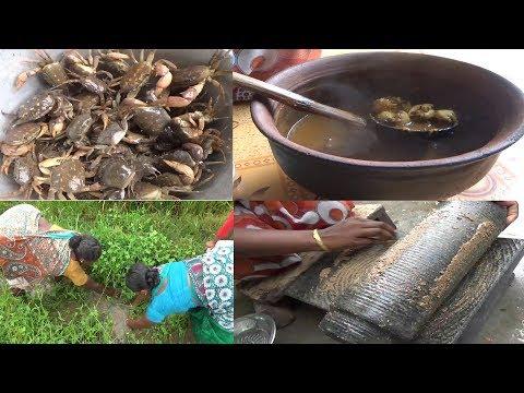 பார்த்தாலே சாப்பிட தோணும் கிராமத்து நாட்டு நண்டு ரசம்  Village Crab Soup /வயல் நண்டு மருந்து குழம்பு