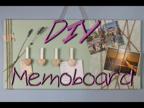 Memoboard selber machen – DIY Deko Ideen für zu Hause / fürs Zimmer – Geschenkideen – deutsch