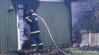 09.07.2018 Voldsom brand i sommerhus, Vig