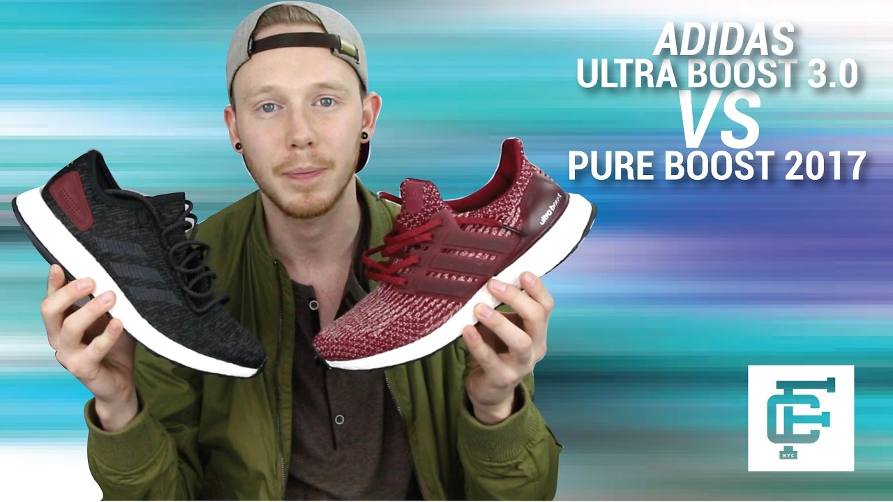 ca02cccf6 ADIDAS ULTRA BOOST 3.0 VS ADIDAS PURE BOOST 2017 COMPARISON - YouTube