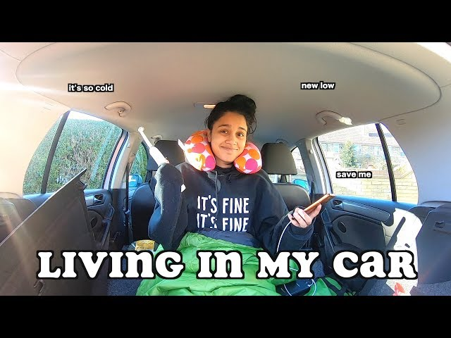 living in my car for 24 hours (winter edition) | clickfortaz