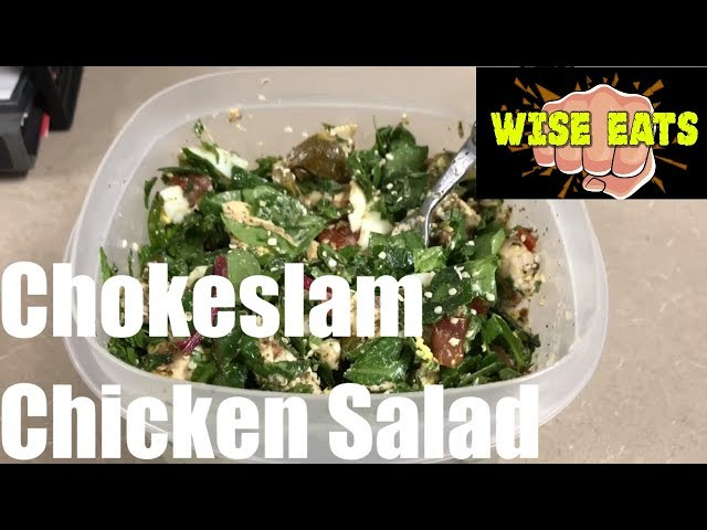 Chokeslam Chicken Salad Recipe for Energy, Weight Loss, Focus! As seen on The Following Announcement