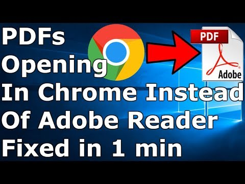 [FIXED] PDF Files Open In Chrome Instead Of Adobe Reader
