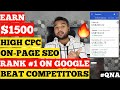[Part 6] Lyrics Website (QNA) 𝐑𝐀𝐍𝐊 #𝟏 𝐎𝐍 𝐆𝐎𝐎𝐆𝐋𝐄, ON PAGE SEO , COPY PASTE EARN MONEY ONLINE JOB