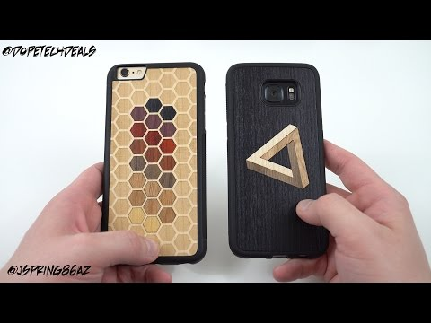 Galaxy S7 Edge Laser-Cut Wood Inlay Case from Carved!