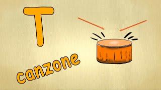 Alfabeto italiano per bambini canzone - La lettera T canzone / Impara canzoni l'italiano per bambini
