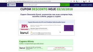f432744e6fed9 Cupom Desconto Kanui - Cupom Desconto Hoje ...
