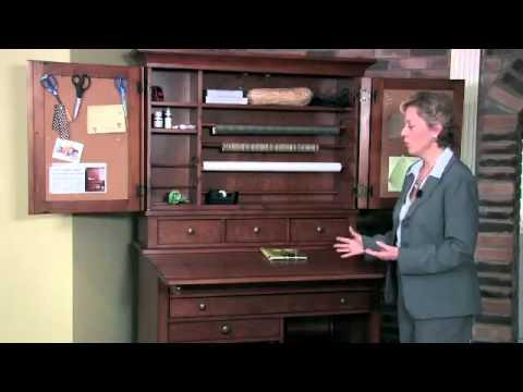 Abbott Place Hobby Cabinet - Hooker Furniture - YouTube