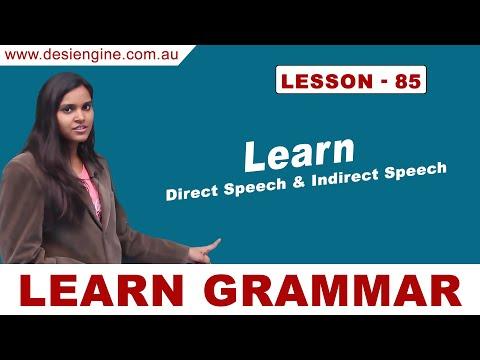 Lesson - 85 Learn Direct Speech & Indirect Speech | Learn English Grammar | Desi Engine India