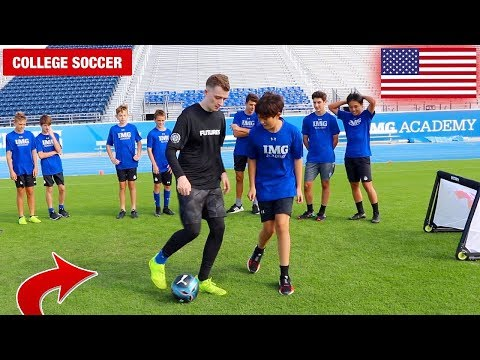 CAN I NUTMEG EVERY FOOTBALLER IN THIS PRO SOCCER TEAM!? (CRAZY REACTIONS)