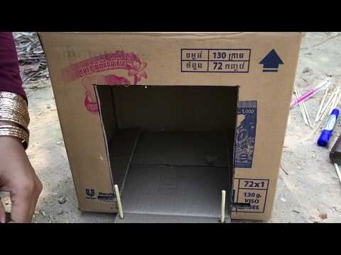 Creative Easy bird trap Using Cardboard - Technology Bird Trap