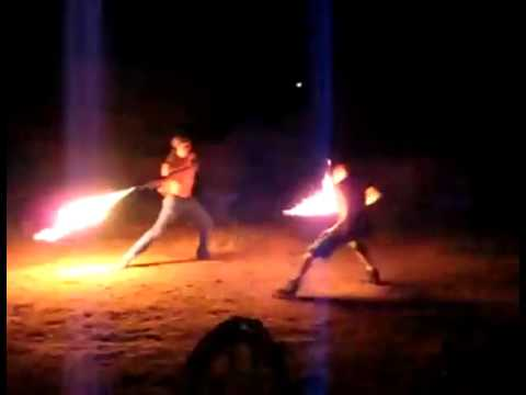 Flaming Sword Fight - Funny Videos