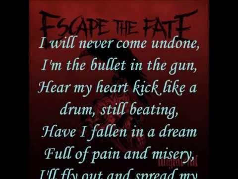 Escape The Fate - I Alone (Lyrics)