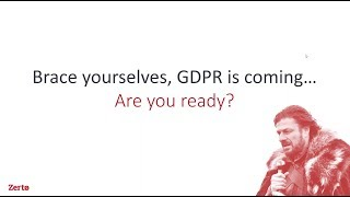 GDPR is coming... Are You Ready? thumbnail