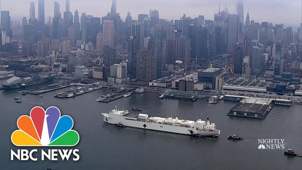 U.S. Navy ship arrives in New York as state's coronavirus death toll surpasses 1,000 | NBC