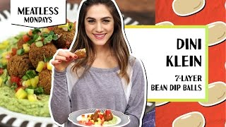 7-Layer Bean Dip Balls With Guac & Pico de Gallo | Meatless Monday - Dini Klein
