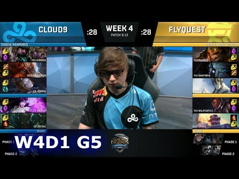 Cloud 9 vs FlyQuest  Week 4 Day 1 S8 NA LCS Summer 2018  C9 vs FLY W4D1