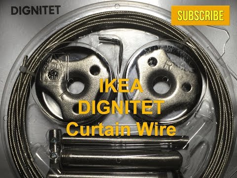 DIGNITET IKEA Curtain Wire Hanging System - Wire Cutting