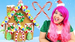 Decorating Christmas Candy Gingerbread Cookie House | DIY Holiday Cookie House | KiMMi THE CLOWN