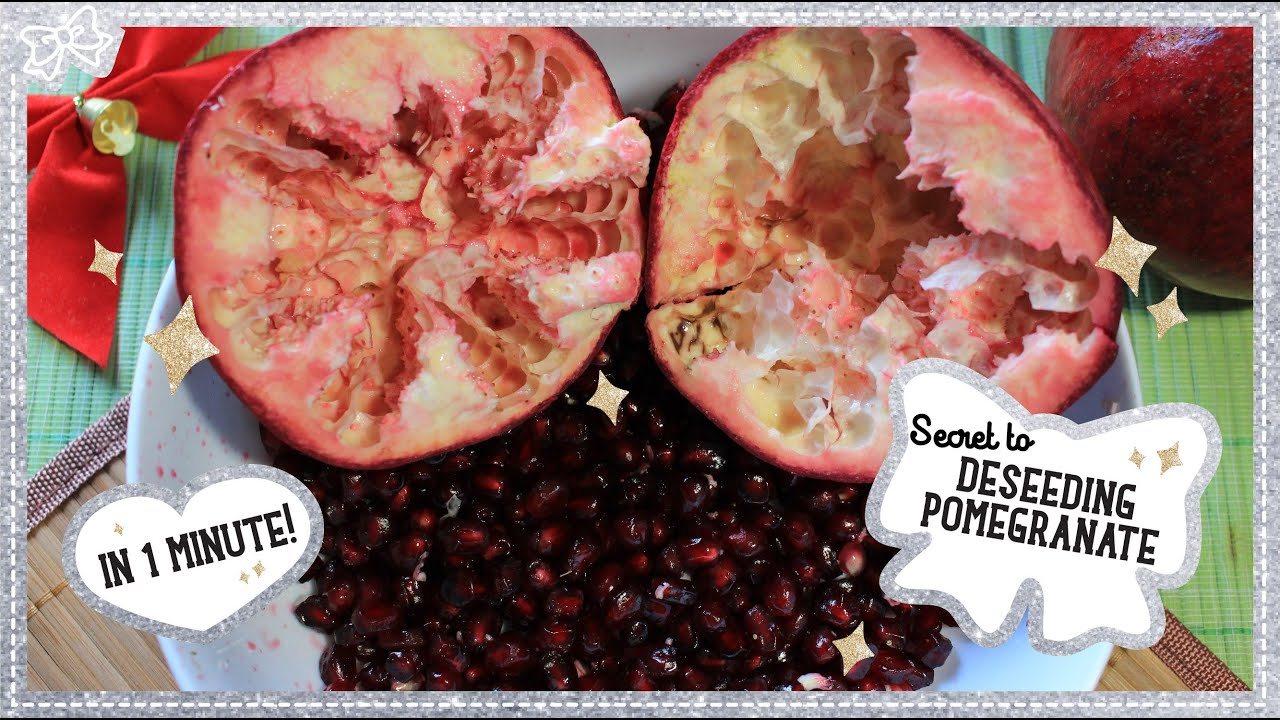 The secret to deseeding a pomegranate only 1 minute youtube - Deseed pomegranate less one minute video ...