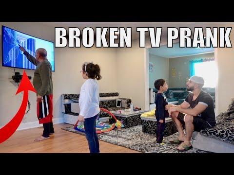$4000 BROKEN TV PRANK ON MY DAD!!