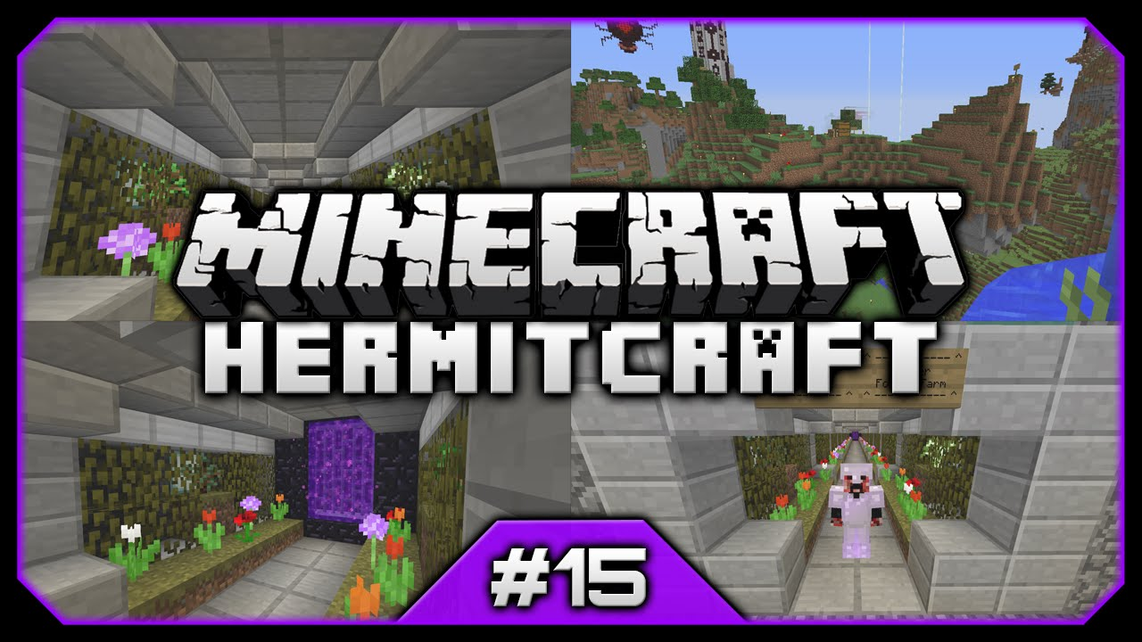 hermitcraft iii nether flower tunnel u0026 the floating island