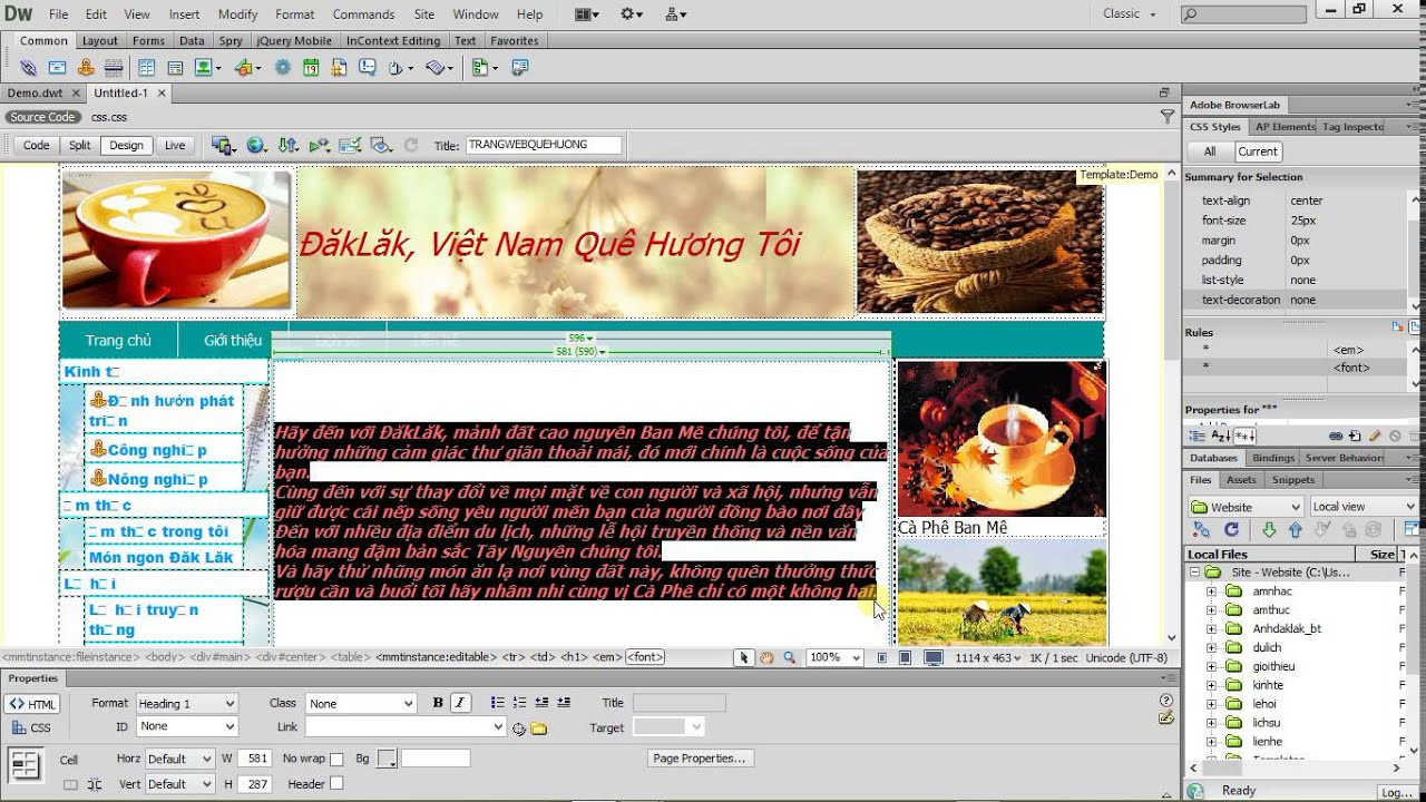 templates for dreamweaver cs6 - huong dan su dung templates trong dreamweaver cs6 youtube