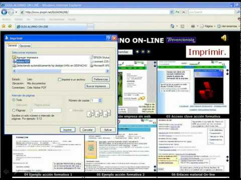 IMPRIMIR PAGINAS INTERNET
