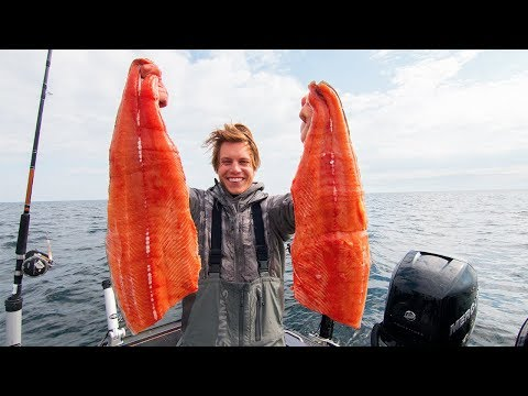 Catch, Cook, Smoke and Eat SUPER KING SALMON!!!
