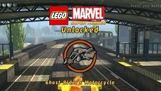Lego Marvel-Unlock Ghost Rider Motorcycle+Gameplay-3rd Ghost Rider Mission