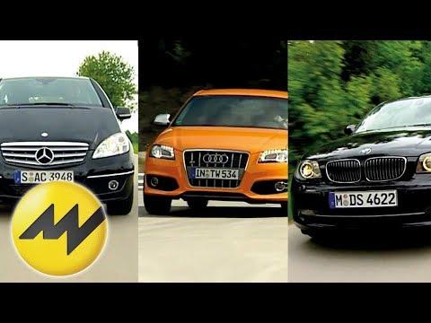 Vergleich Audi S3 vs. BMW 130i und Mercedes A 200 Turbo Wolf