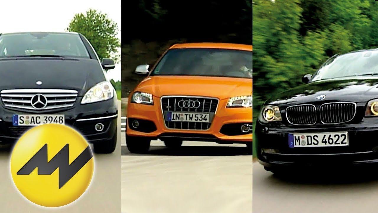 Vergleich Audi S3 vs. BMW 130i und Mercedes A 200 Turbo ...