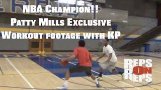 NBA Champion Patty Mills Workout with KP!! #RepsOnReps