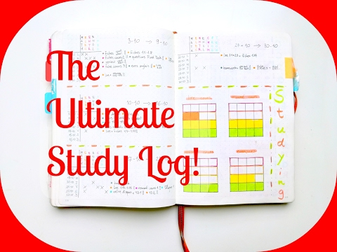 The Ultimate Study Log | Bullet Journal for University Students | The Boosted Journal