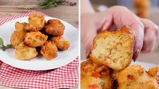 Сырные оладьи-пончики - Рецепты от Со Вкусом