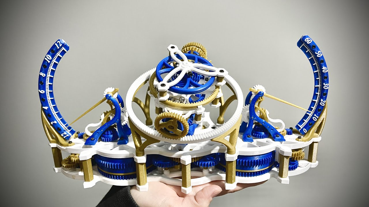 A Mind Blowing Mechanical Work Of Art -  3D Printed Tri-Axial Tourbillon
