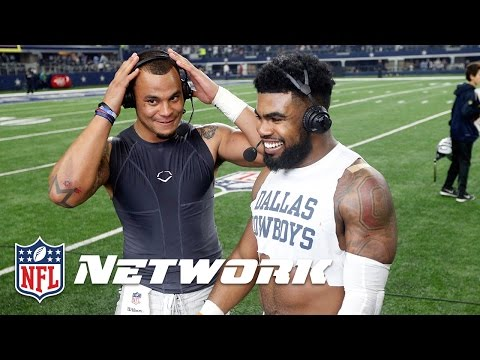 Thumbnail: Ezekiel Elliott and Dak Prescott Get Into a Candy Fight | NFL Network