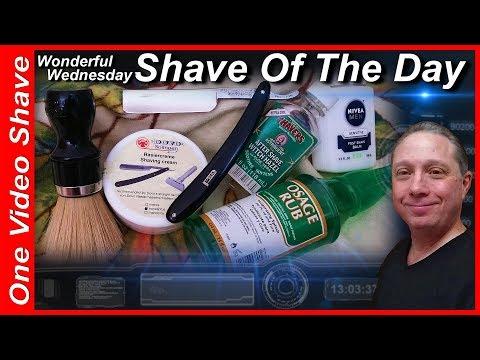 Wonderful Wednesday Shave Of The Day #OVS, Parker Best Silver Steel Straight Razor Shave, DOVO #SOTD