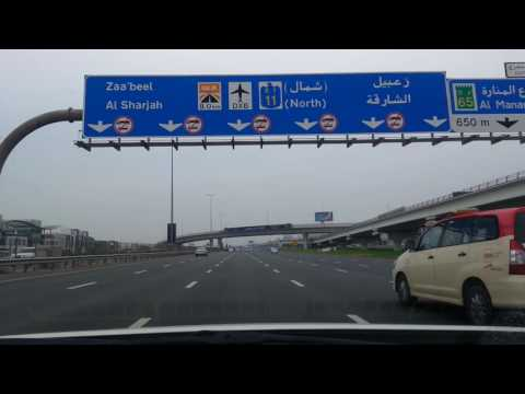 Driving Dubai UAE