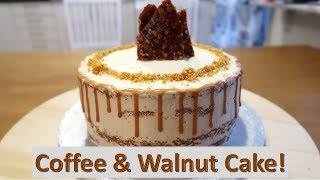 Coffee & Walnut Semi-Naked Cake!